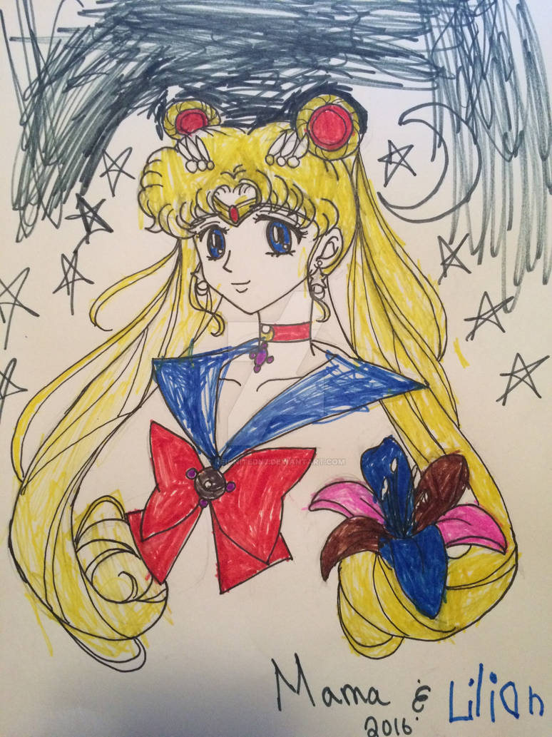Sailor Moon colored by Lily