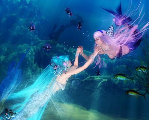 Miku and Luka: Mermaid Magnet