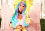 Princess Celestia (Genesis 3 Remake) close-up by Axel-Doi