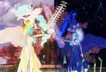 Celestia and Luna (Gram and Excalibar) by Axel-Doi