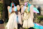 Anthro Series: Celestia and Amaterasu by Axel-Doi
