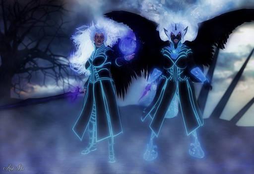 Anthro Series: Nightmare Moon and Tsukioni
