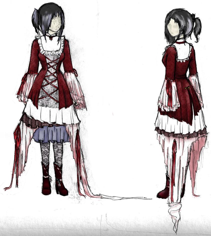 gothic dress by lyanaling on deviantart