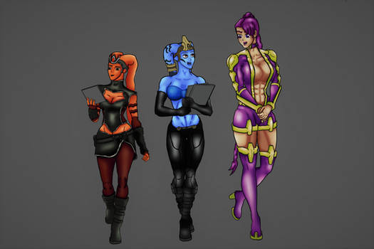 Kesarah,Fernopatrix and Cori'Senteye: Artjam