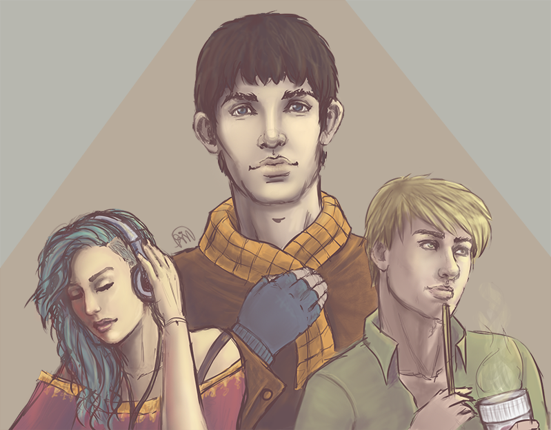 Merlin, Morgana and Arthur by Manuella-Malk on DeviantArt