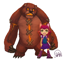 Annie and Tibbers by Manuella-Malk