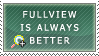 Fullview is Better Stamp by FabianaSilva
