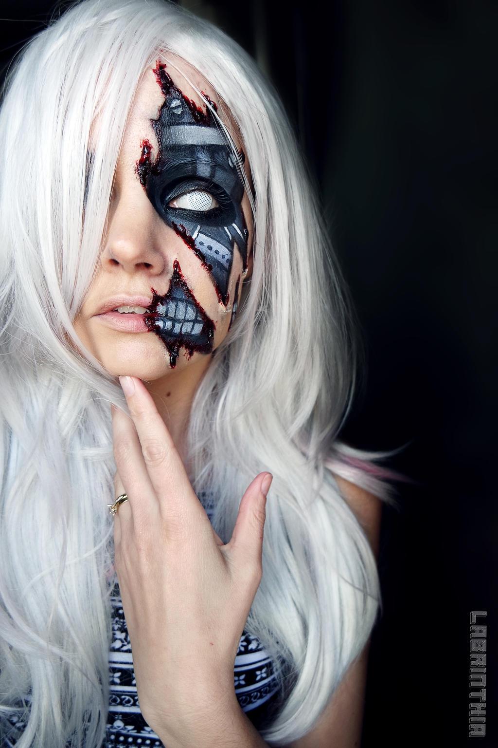 Body Paint Robotic Face Latex