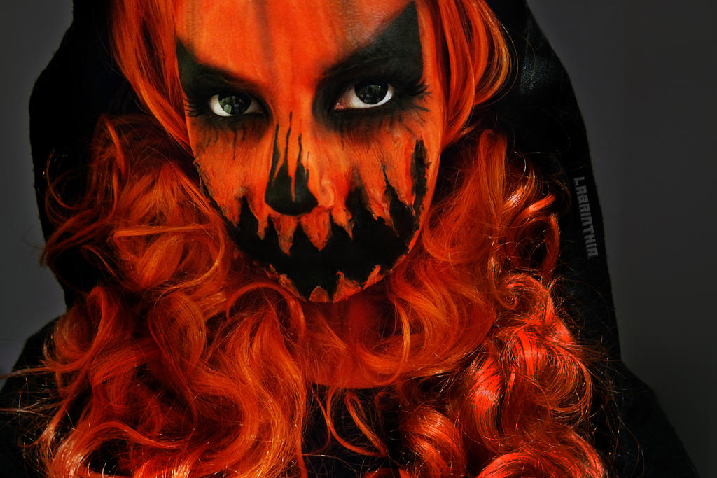 Halloween Pumpkin Makeup by labrinthia on DeviantArt