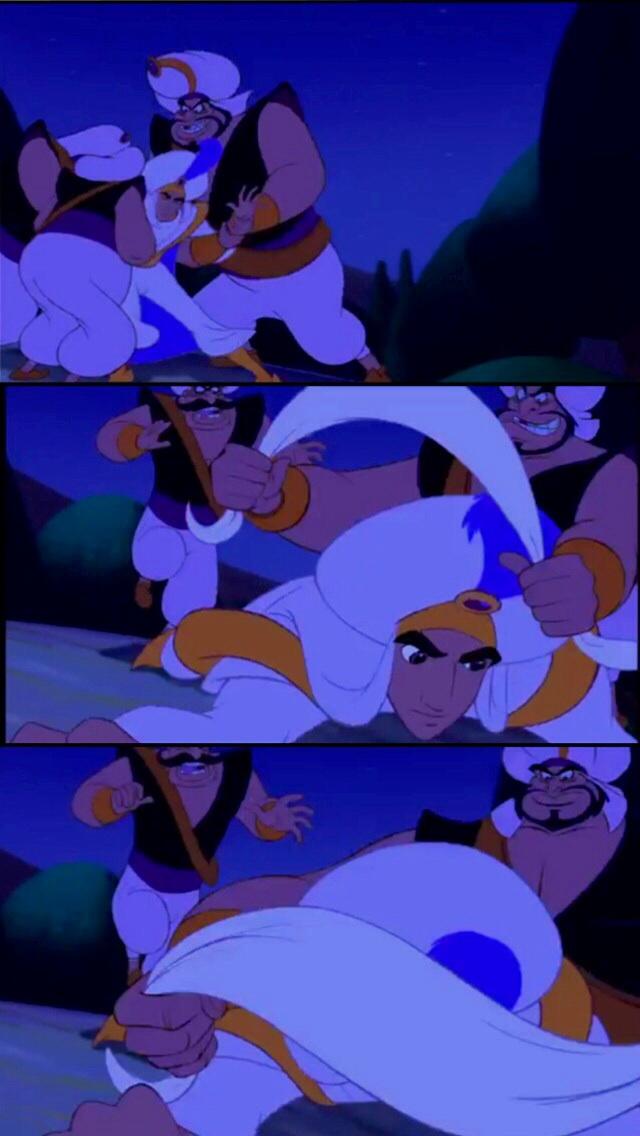 Aladdin Gagged