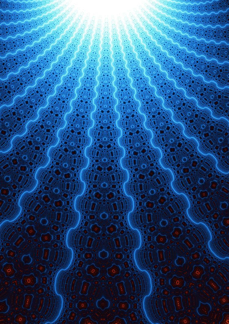 Blue Sun Fractal by titoinou on