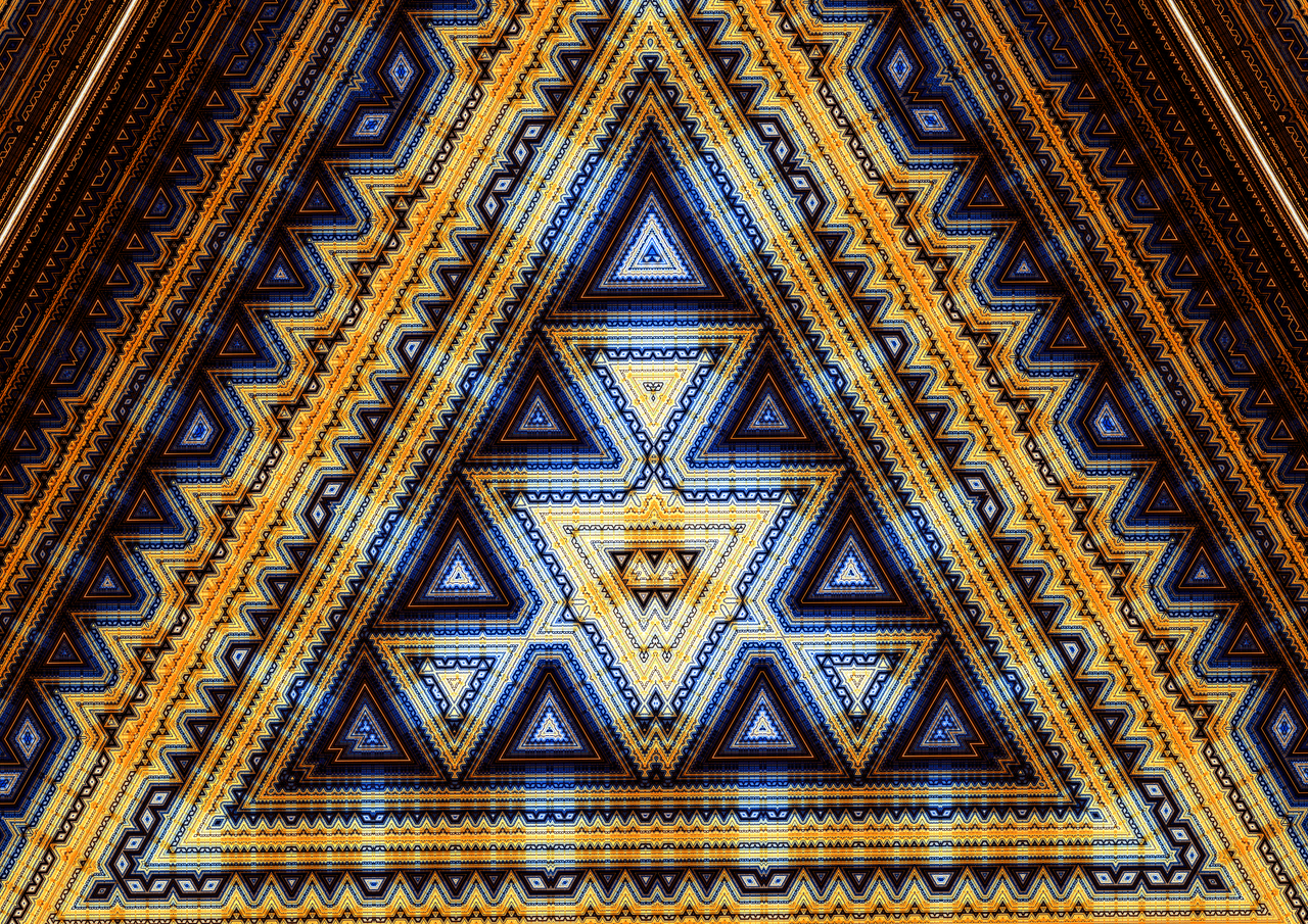 gold geometric wallpaper