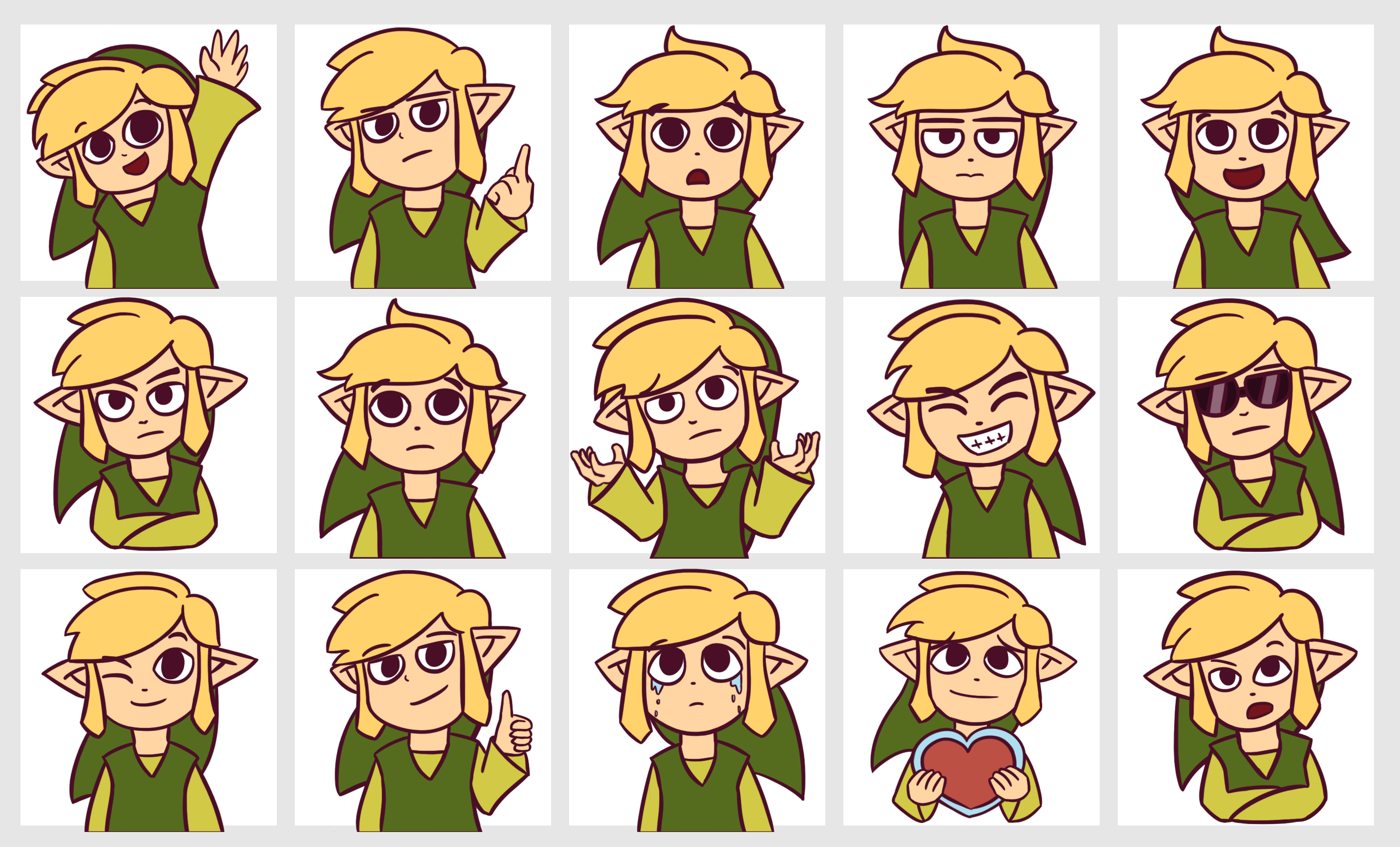 Toon Link Telegram Stickers by Chromel on DeviantArt