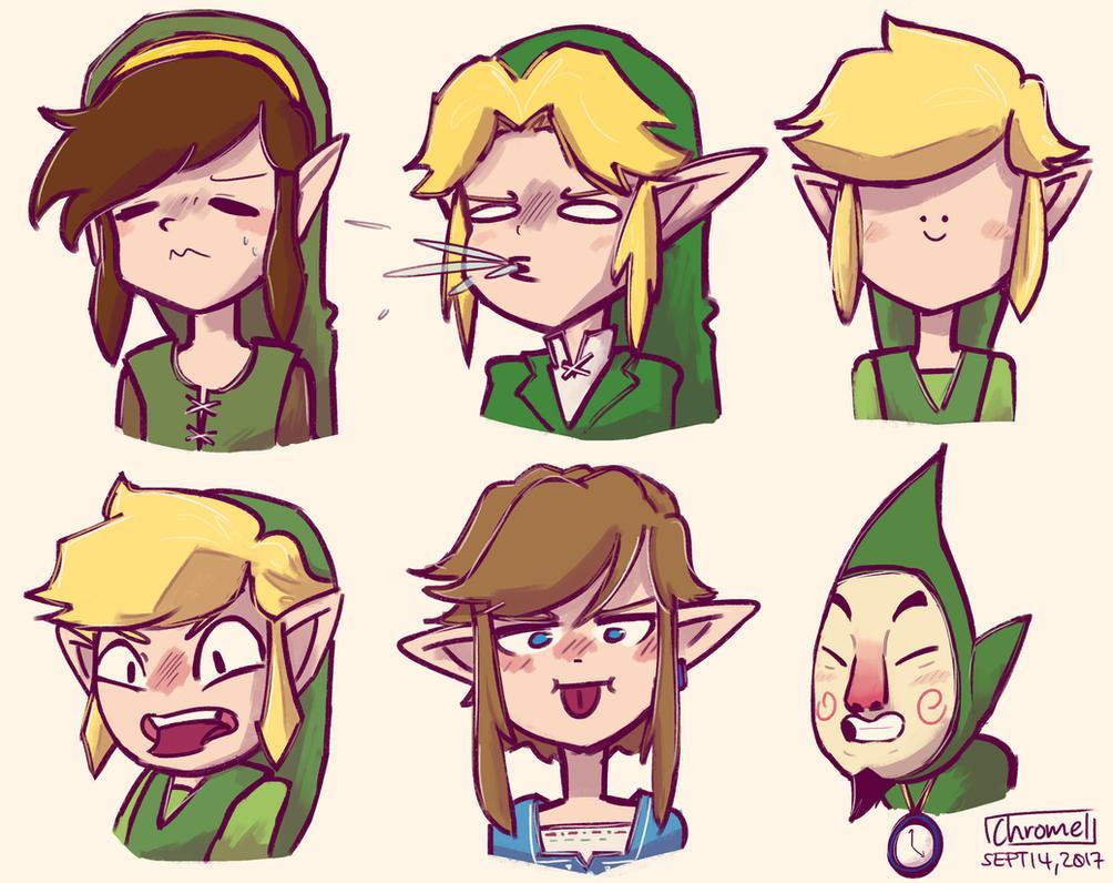 More Zelda Doodles by Chromel