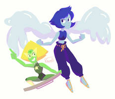 Peridot and Lapis' New Forms by Chromel