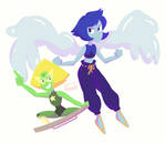 Peridot and Lapis' New Forms