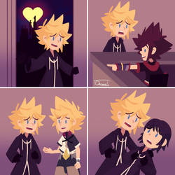 What goes down in Soras heart hotel by Chromel