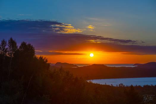 Sunrise on the North Shore of Lake Superior