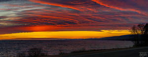 Blood Red Sunset over Lake Superior
