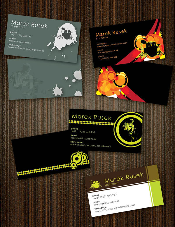 Drummer39s business cards by doruzova on deviantart for Drummer business cards