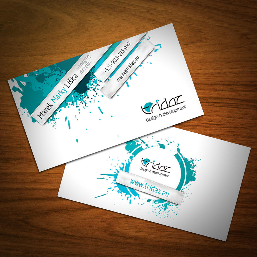 Tridaz business cards - new by doruzova on DeviantArt