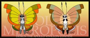 Amoct CE: Apollo Vivillon by RoachMustard