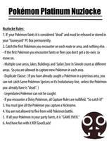 My Pokemon Platinum Nuzlocke Rules by RoachMustard
