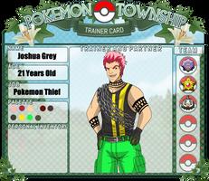 Pokemon Township: Joshua Grey by RoachMustard