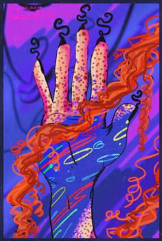 Drawing hand of Vengoria