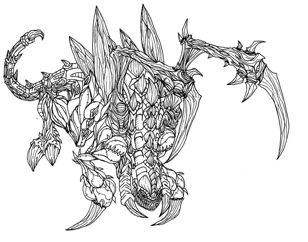 starcraft 2 coloring pages - starcraft 2 zerg zergling by kerberos of hades on deviantart