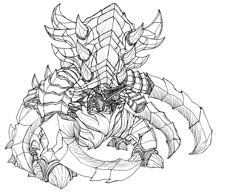 Starcraft 2 zerg ultralisk by kerberos of hades on deviantart for Starcraft coloring pages