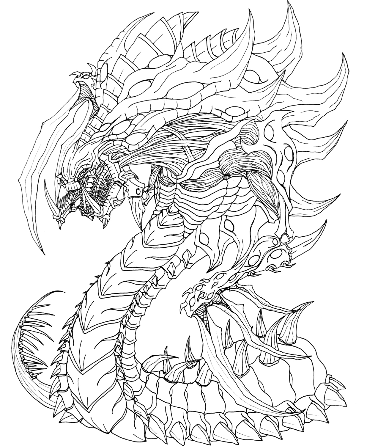 starcraft coloring pages starcraft 2 zerg hydralisk by kerberos of hades on deviantart