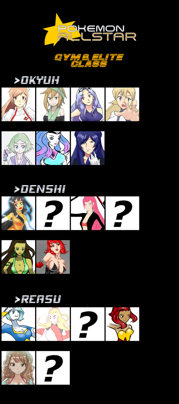 AllStar Characters (Female) - Leaders and Elites by pkmqt