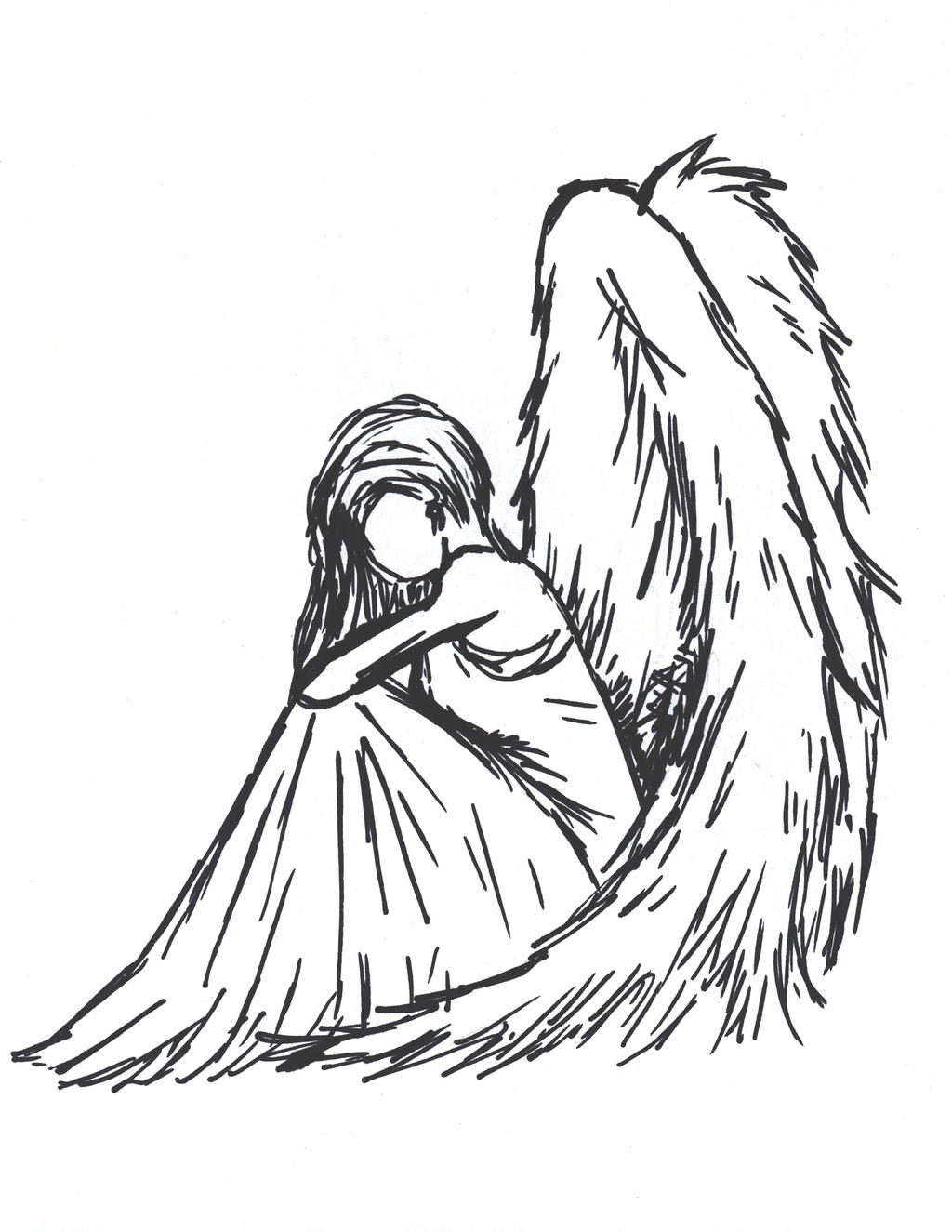 Sad Angel Sketches Sad Angel by Sioban Mckey
