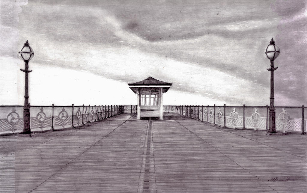 Swanage Pier (pencil) by mchurchill1982