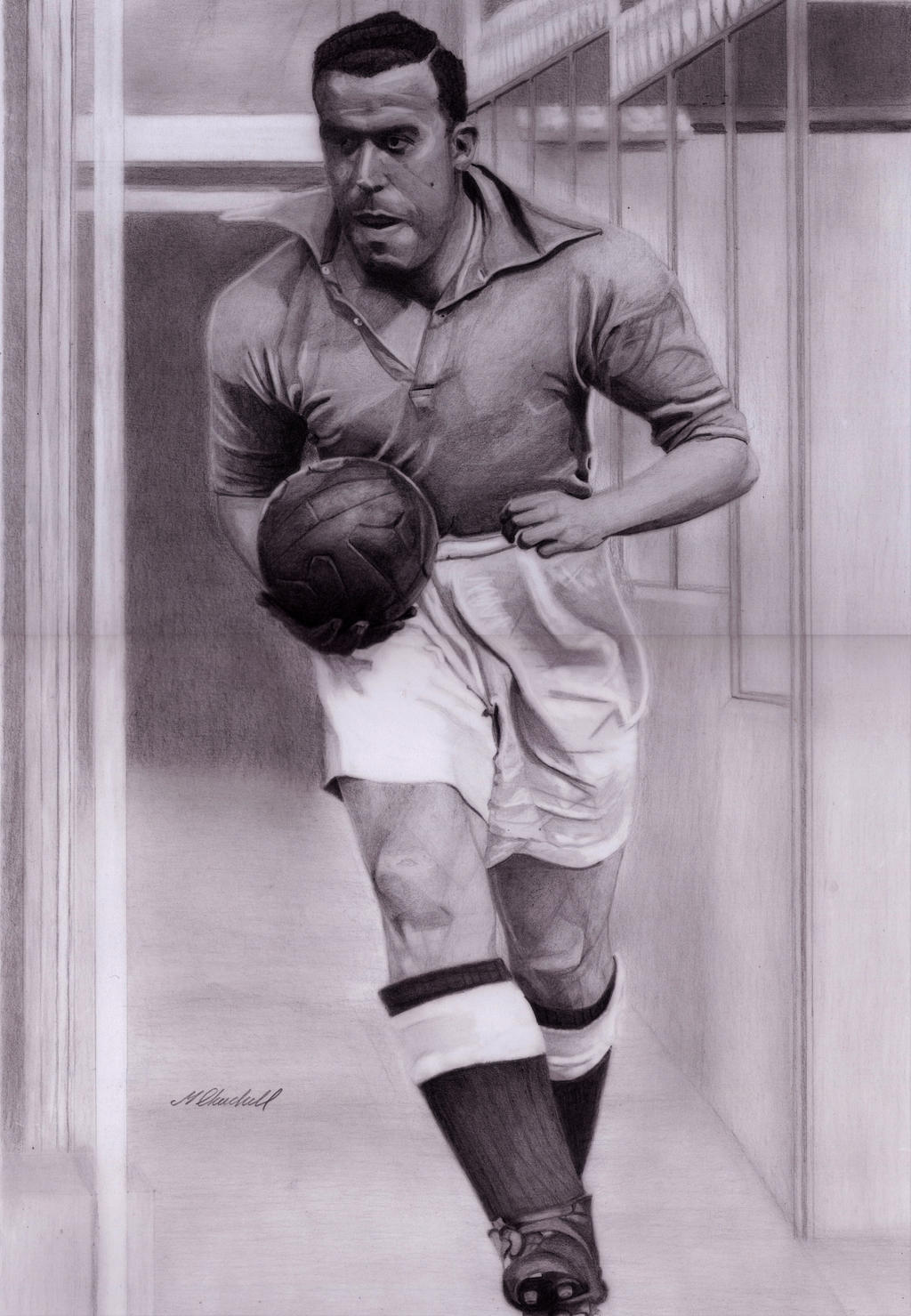 William Ralph Dixie Dean Pencil by mchurchill1982 on DeviantArt