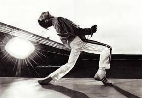 Freddie Mercury (Queen Live at Wembley) by mchurchill1982