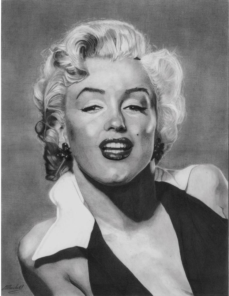 Marilyn Munroe (Graphite) by mchurchill1982