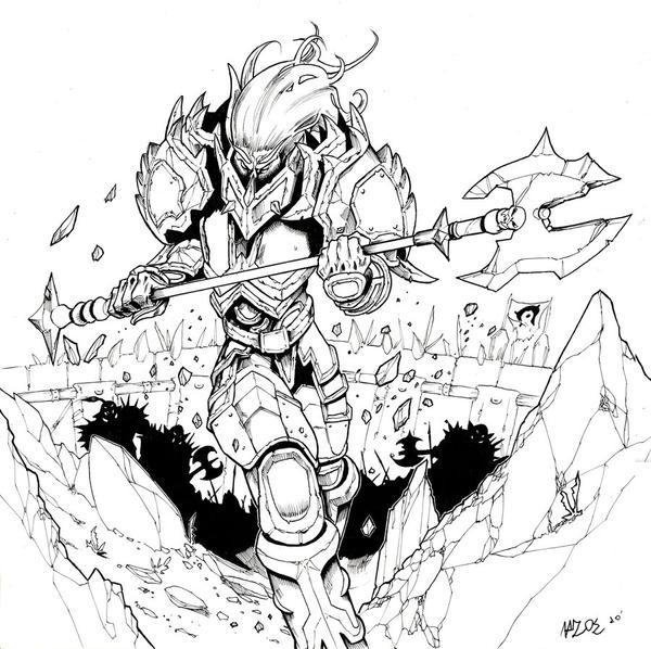 Night elf warrior by doriefs