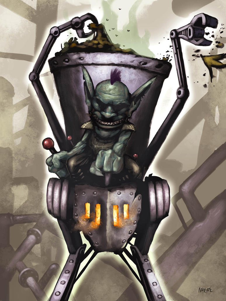 Goblin food waste thrower by doriefs