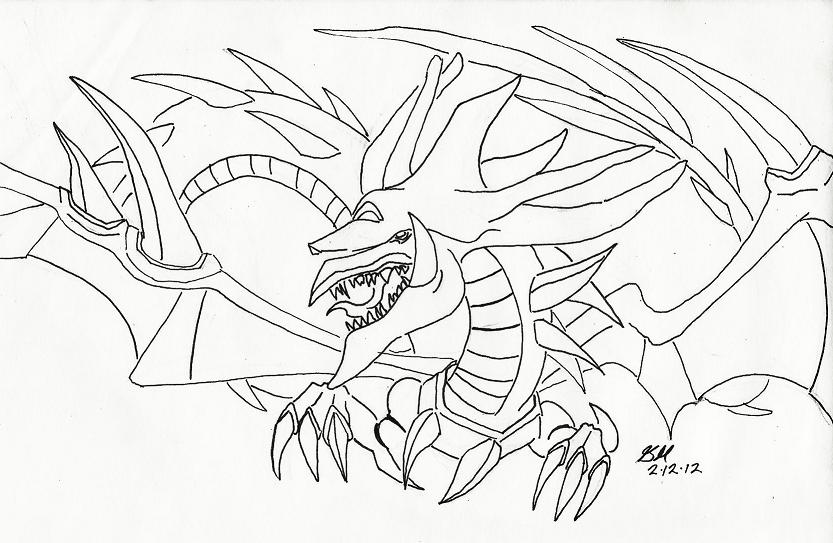 Slifer The Sky Dragon Coloring Pages Coloring Pages