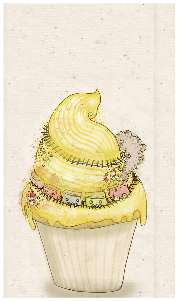 Cupcake Express _greetingscard by Maddiox