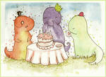 T-Party Rex _greetings card