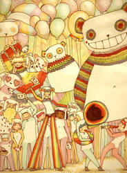 Rainbow Panda Extravaganza by Maddiox