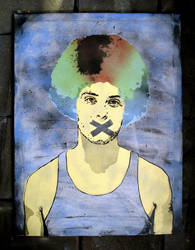 Coloured Afro Canvas Version