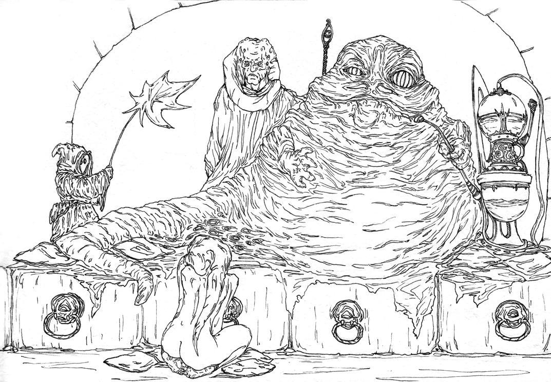 Line Art Joy : Jabba s new joy line art by alexandercrw on deviantart