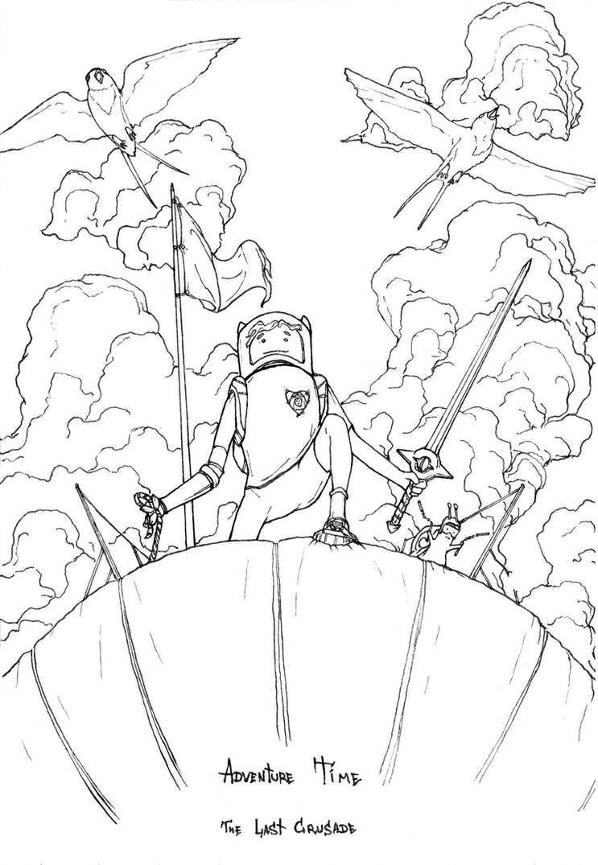 Adventure Time The Last Crusade Line Art Ink by AlexanderCrW