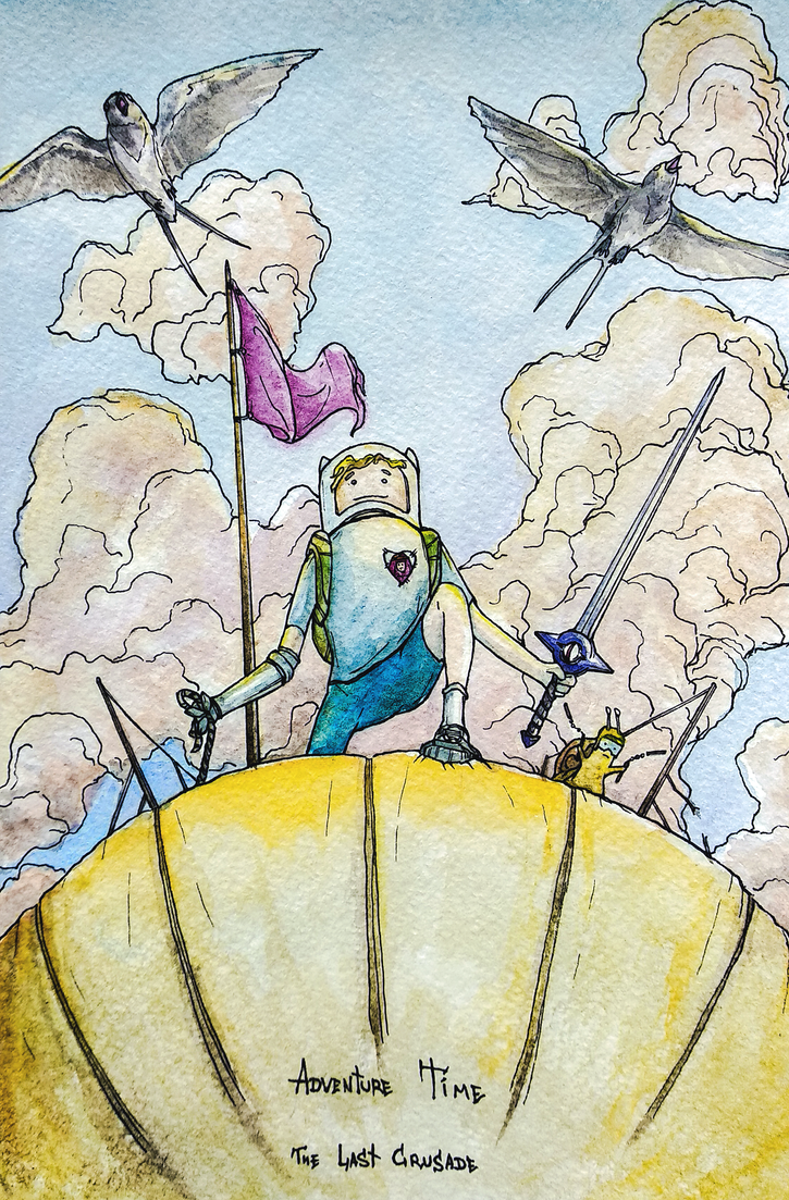 Adventure Time The Last Crusade Post Card Watercol by AlexanderCrW