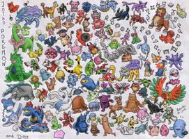 All Johto Pokemon and Ditto :D by SANACHI