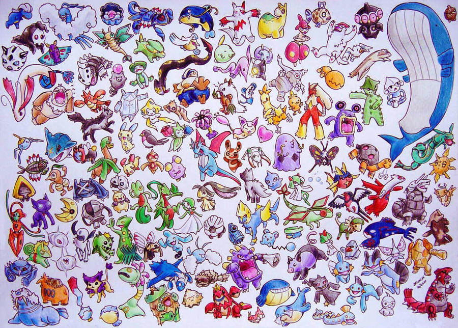 all hoenn pokemon d by sanachi on deviantart